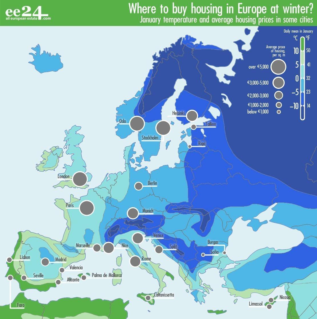 Top ten EU countries with cheap real estate - EE24