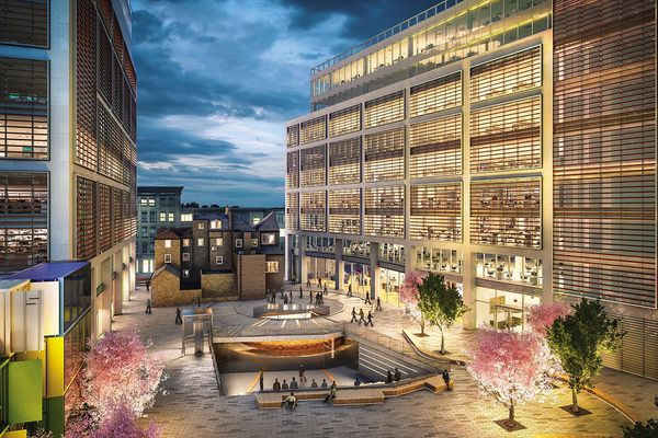 Luxury housing on the site of Shakespeare's theater in London