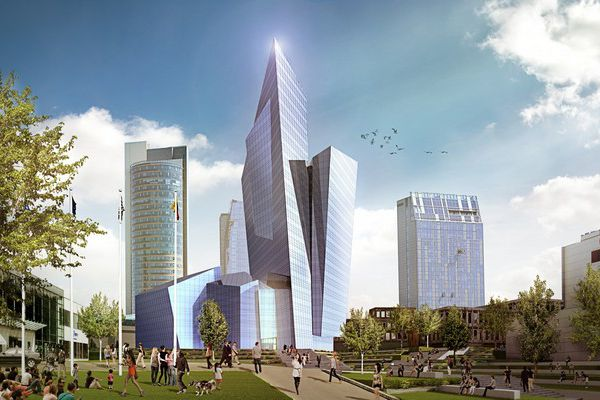 In Lithuania will be build a high-rise building in the form of a crystal