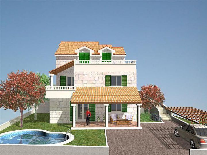 Detached house in city Milna