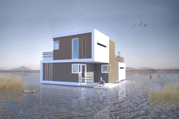 Houseboat for two in the Netherlands: in case of divorce housing is divided into 2 parts without difficulty