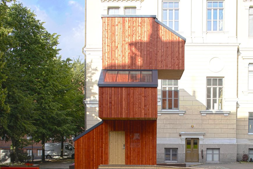 In Finland, the students created a house that is constructed in 1 day and costs only €13 000