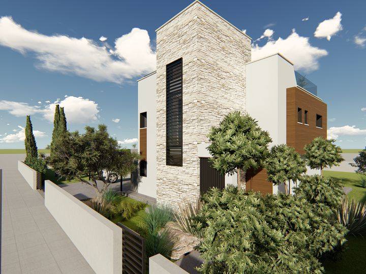 Detached house in city Paphos